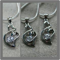 $10 each FREE SHIPPING NZ WIDE! www.urbanprincessnz.com  #heart #sterlingsilver #cute #urbanprincessnz http://urbanprincessnz.com/products/linked-heart-necklace-925-stirling-silver