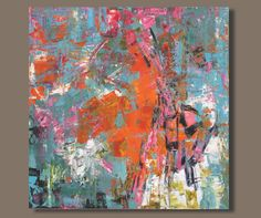 TITLE: The Fallout of Pink ***FREE SHIPPING to USA and Canada*** ***REDUCED RATE to UK*** This is an original abstract painting hand painted by the artist. DESCRIPTION: This vibrant abstract painting is a return to my roots. The reason I started painting in the first place was to play with colour and this piece is all about colour and texture and finding a balance. Please see close-ups for more detail. Hope you like it. + DIMENSIONS: 24x24 inches (1.5 inch depth) MATERIALS: acrylic p...