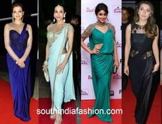 saree gown collage