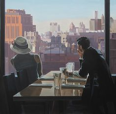 Risultati immagini per nicolas odinet American Realism, Cafe Art, Film Inspiration, Traditional Paintings, Couple Art, Pictures To Paint, Oeuvre D'art, Impressionism, Architecture Art
