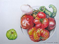 Heirloom Tomatoes - Color Pencil