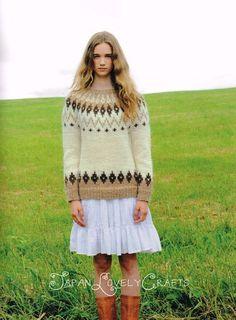 Iceland Lopi Knit Wear Japanese Craft Book by JapanLovelyCrafts