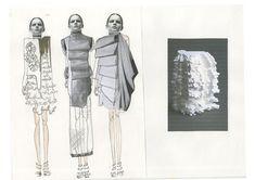 Fashion Sketchbook - fashion design development; fashion illustration; fashion portfolio // Sophie Bateson