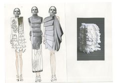Fashion Sketchbook - fashion design development; fashion illustration; fashion portfolio // Sophie Bateson
