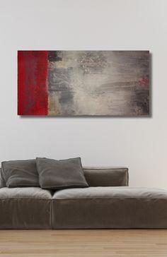 abstrakte Kunst, abstrakte Malerei, Acrylmalerei, abstract painting, 100 x 50 x 4,5 cm, Raut-Malerei