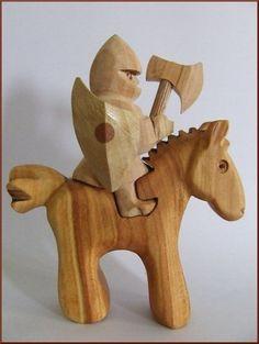 Ritter+auf+dem++Pferd+von+Geppettos-Holzträume+auf+DaWanda.com