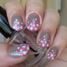 The Polish Playground: Blue and Pink Polka Dot Gradient