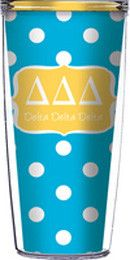 Delta Delta Delta Tumbler (includes clear lid and straw) from South Bound Sisters