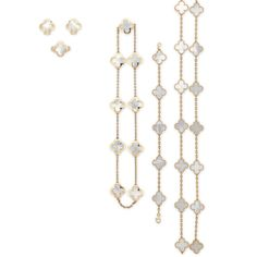 A group of mother-of-pearl 'alhambra' jewellery, by Van Cleef & Arpels
