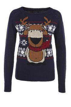 Sweater with reindeer