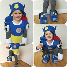 Too much sewing. maybe just for hats if we cant find helmets... homemade by jill: comfy dress up: Transformers Halloween Costume