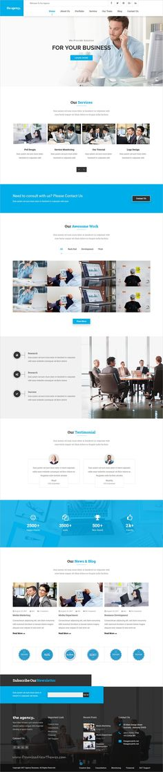 The Agency is clean and modern design 2in1 responsive #WordPress theme for #corporate and business website download now..