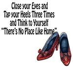 Close your eyes and tap your heels together three times and think to yourself: There's no place like home. A great Wizard of Oz quote showing off Dorothy's Ruby Red Slippers Escape Room For Kids, Wizard Of Oz Quotes, Ruby Red Slippers, Yellow Brick Road, Close Your Eyes, My Daddy, The Wiz, Favorite Quotes, Me Quotes