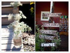 A Fun DIY Vintage Wedding | Hand Painted Wedding Signs
