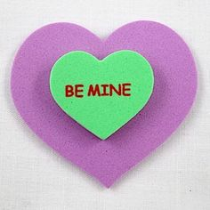 Conversation Heart Magnet by Crafty Journal.
