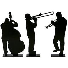 """Deko-Silhouetten """"Kubanische Musiker"""""""
