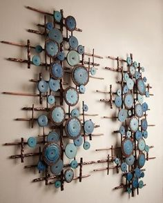 New No Cost Ceramics Sculpture wall Thoughts Nachrichten Ceramic Wall Art, Wooden Wall Art, Wood Art, Wall Sculptures, Sculpture Art, Copper Art, Diy Jewelry Inspiration, Diy Woodworking, Wall Collage