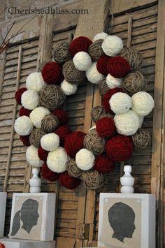 Yarn Ball Wreath...Robyn Christmas?