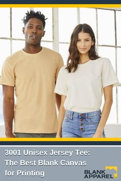 This updated unisex essential fits like a well-loved favorite, featuring a crew neck, short sleeves, and designed with superior combed and ring-spun cotton that acts as the best blank canvas for printing. Features: Sideseamed. Retail fit. Unisex sizing. Shoulder taping. Fabrication: 100% Airlume combed and ring-spun cotton, 32 single 4.2 oz. (Ash - 99% Airlume combed and ring-spun cotton, 1% poly) #unisex #blankapparelca #ecommerce #fallfashion #sublimation #womensfashion #mensfashion Blank Canvas, Shoulder Taping, Bella Canvas, Spun Cotton, Autumn Fashion, Crew Neck, Short Sleeves, Unisex, Tees