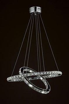 """Crystal Elipse Ring Chandelier Led Chandeliers Modern / Contemporary Lighting 23"""" Wide - Good For Dining Room, Foyer, Entryway, Family Room And More! - Gb104-3301"""