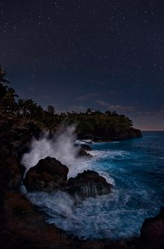 Pacific Midnight, Pago Pago, American Samoa (by miketelemark)