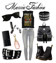 """rock"" by marsia-fashion on Polyvore featuring Paige Denim, Dr. Martens, Bling Jewelry, Montana West, Relic, Ray-Ban, NARS Cosmetics, Bobbi Brown Cosmetics and Christian Dior"