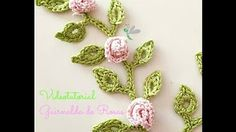 (crochet) How To - Crochet a Mini Rose with Leaves - Yarn Scrap Friday - YouTube