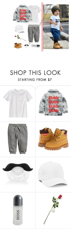 """""""Axel's OOTD"""" by rocio-rivera ❤ liked on Polyvore featuring Gymboree, Timberland, Topman, BOSS Hugo Boss, Hanky Panky, men's fashion and menswear"""