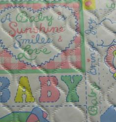 Quilted Baby Fabric - Make your own changing pad and other things for baby out of this durable, easy clean fabric.