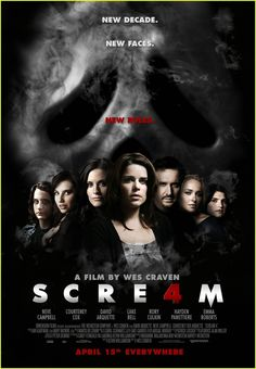 49. Scream 4 (2011) Ten years have passed, and Sidney Prescott, who has put herself back together thanks in part to her writing, is visited by the Ghostface Killer. score: 7/10
