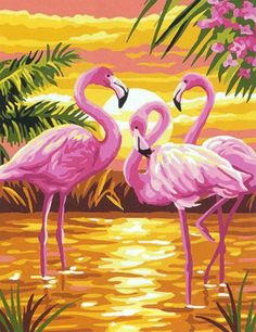 """Painting By Numbers DIY Dropshipping pink flamingo seaside Animal Canvas Wedding Decoration Art picture Gift"" Flamingo Painting, Flamingo Art, Mural Painting, Pink Flamingos, Diy Painting, Pink Flamingo Wallpaper, Paintings, Roses Pink, Flamingo Pictures"