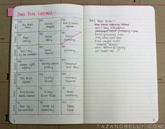 Blog Planner in the Bullet Journal