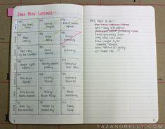 Blog Planner in the Bullet Journal