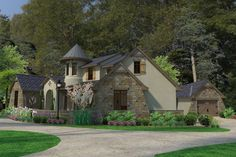 European Style House Plan - 3 Beds 3.5 Baths 3230 Sq/Ft Plan #120-185 Exterior - Other Elevation - Houseplans.com
