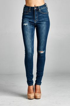 Our high waisted denim is so comfortable and stretchy you will never want  to take them 76ed0131684