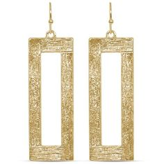 Towne  Reese Gold Gold-Tone Jordan Earrings ($25) ❤ liked on Polyvore featuring jewelry, earrings, gold, goldtone jewelry, gold tone earrings, gold jewelry, gold tone jewelry and yellow gold earrings