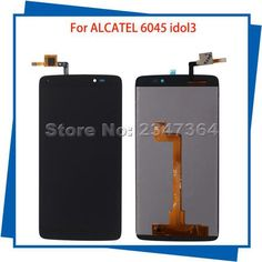 For Alcatel idol3 OT6045 6045 6045Y 6045F  LCD Display Touch Screen BlackColor 100%Guarantee Mobile Phone LCDs  — 2044.12 руб. —