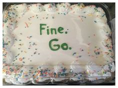 These funny goodbye cakes will make a farewell one to remember.