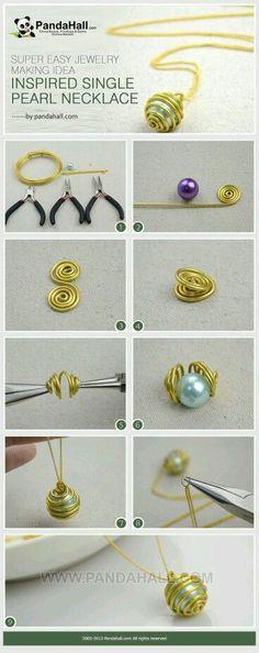 DIY Bijoux  Perla engarzada