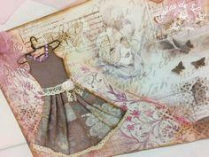 Paper dress / Cuadro vintage con vestido de papel www.facebook.com/CositasLoly