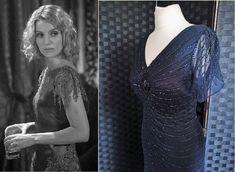 Flapper Dress  Gatsby Dress  1920s Style Dress  1930s Style Dress  Downton Abbey Dress  Sequin Dress  Peaky Blinders Dress  Navy Blue Dress by STILLCHIC on Etsy Embellished Dress, Sequin Dress, Peaky Blinders Dress, Hollywood Glam Dress, 1920s Fashion Dresses, Bias Cut Dress, Art Deco Dress, Gatsby Dress, 1930s Dress