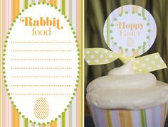 """Free """"Hoppy Easter"""" printables designed by @MJ Paperie, exclusively for Catch My Party!"""