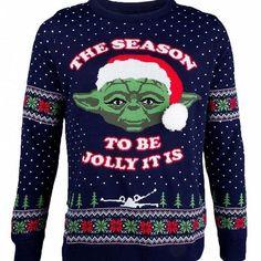 Star Wars knitted Master Yoda Christmas jumper
