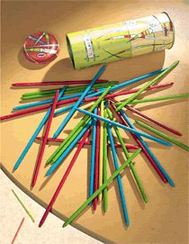 I like Pick Up Sticks but it would frustrate me