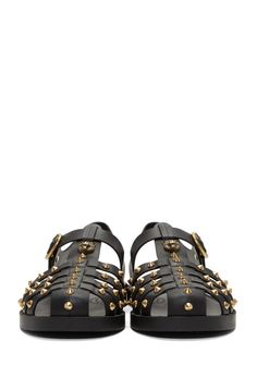 Gucci Black Studded Rubber Sandals from SSENSE (men, style, fashion, clothing, shopping, recommendations, stylish, menswear, male, streetstyle, inspo, outfit, fall, winter, spring, summer, personal)