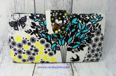 Handmade Long Wallet  BiFold Clutch Vegan Wallet  by FaithOnEarth, $45.00