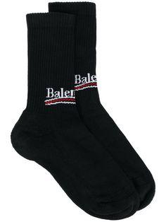 Balenciaga Bal Logo Socks - Farfetch Chaussettes De Vacances 83d373d344b