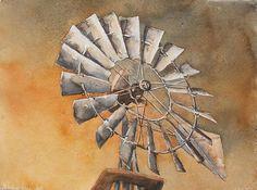 Windmill painting