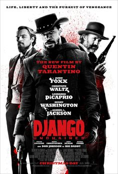 Django Unchained - Former dentist, Dr. King Schultz, buys the freedom of a slave, Django, and trains him with the intent to make him his deputy bounty hunter. Instead, he is led to the site of Django's wife who is under the hands of Calvin Candie, a ruthless plantation owner.