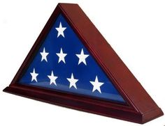 Triangle Flag Display Case Military Veteran Burial American Memorial Funeral Kit